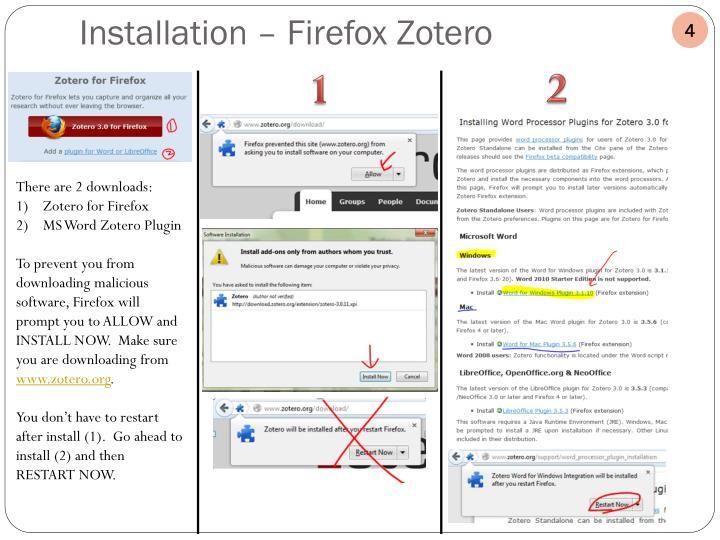 Installation – Firefox