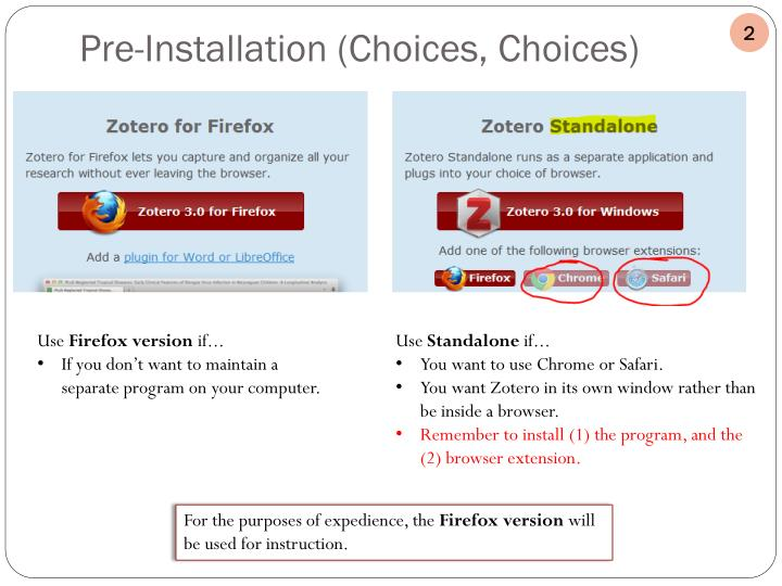 Pre-Installation (Choices, Choices)