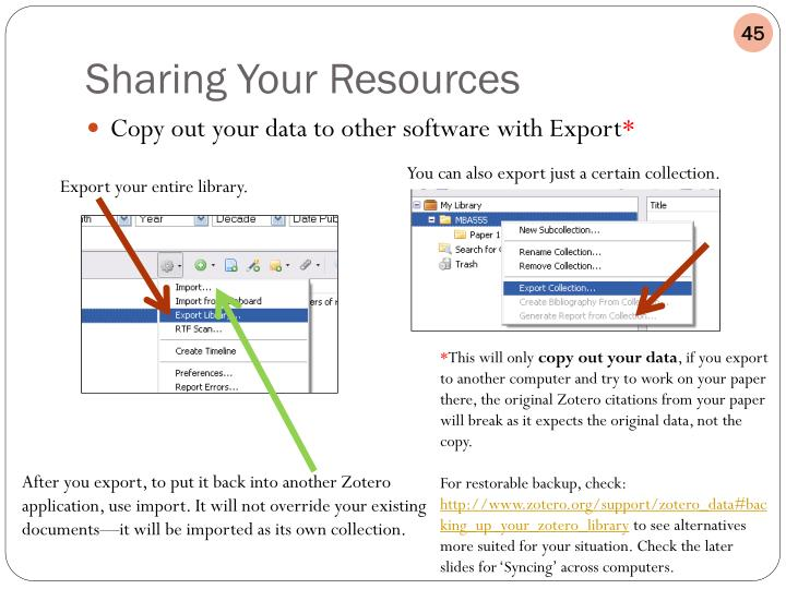 Copy out your data to other software with Export