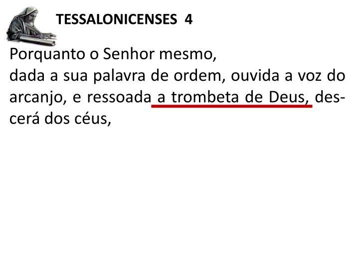 TESSALONICENSES  4