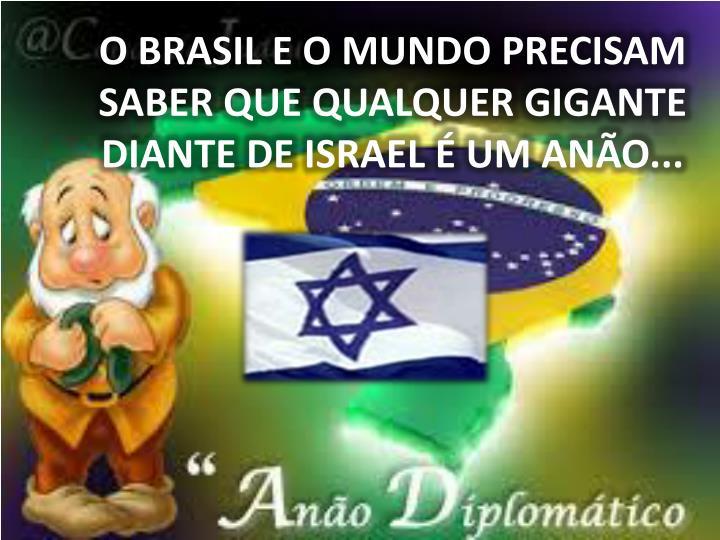 O BRASIL E O MUNDO PRECISAM SABER QUE QUALQUER GIGANTE DIANTE DE ISRAEL É UM ANÃO...