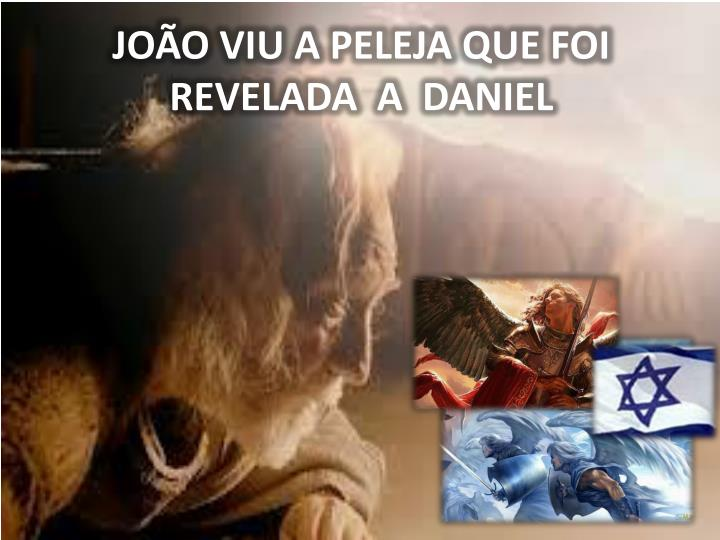 JOÃO VIU A PELEJA QUE FOI                      REVELADA  A  DANIEL