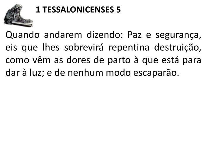 1 TESSALONICENSES 5