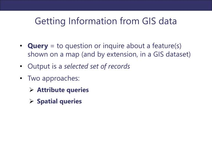 Getting Information from GIS data