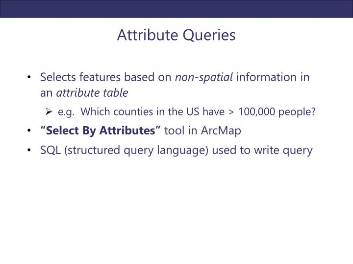 Attribute Queries