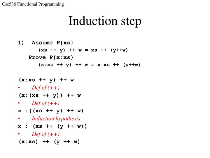 Induction step