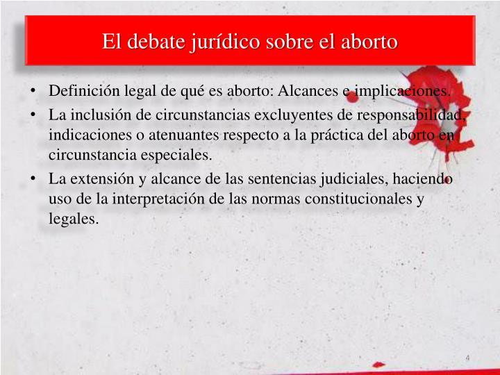 El debate jurídico sobre el aborto