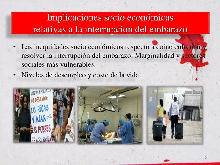 Implicaciones socio económicas