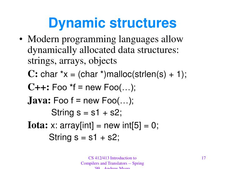 Dynamic structures