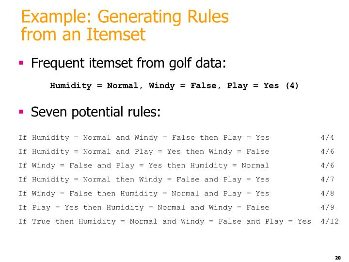 Example: Generating Rules