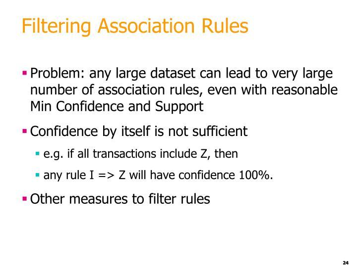 Filtering Association Rules