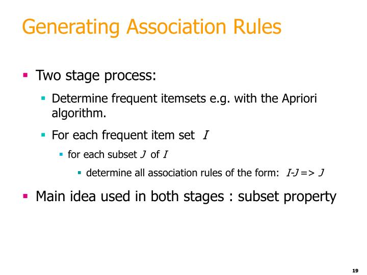 Generating Association Rules