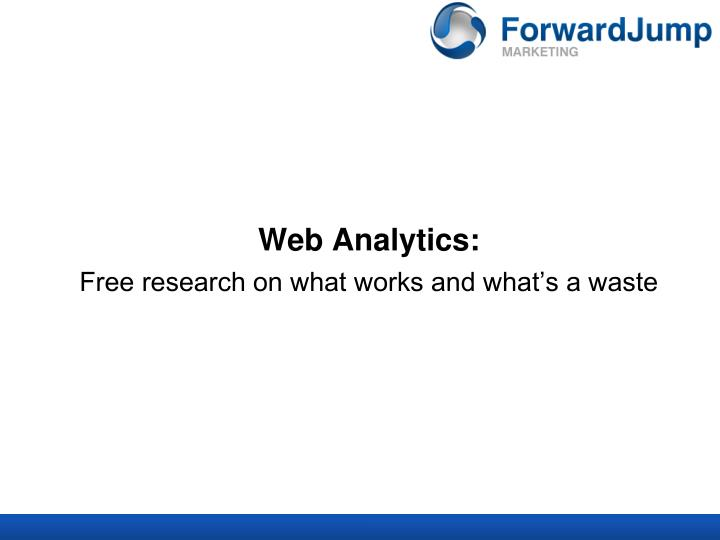 Web Analytics: