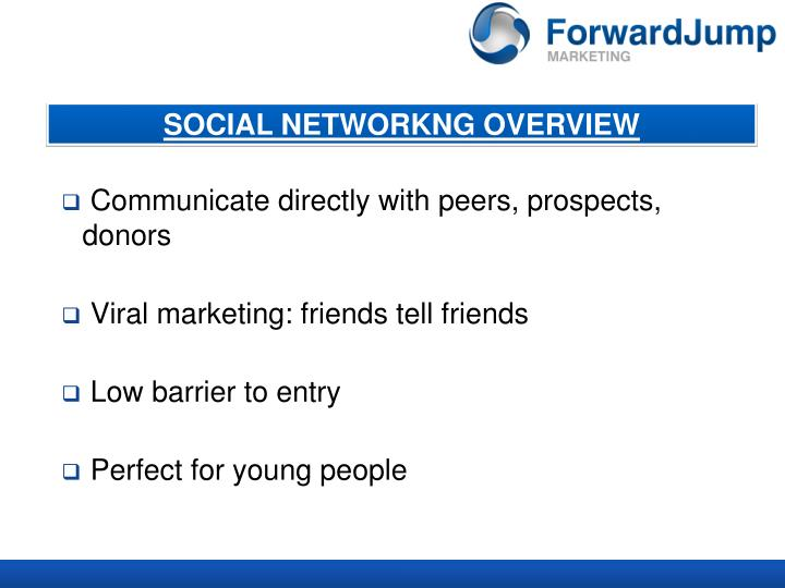SOCIAL NETWORKNG OVERVIEW