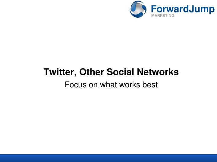 Twitter, Other Social Networks