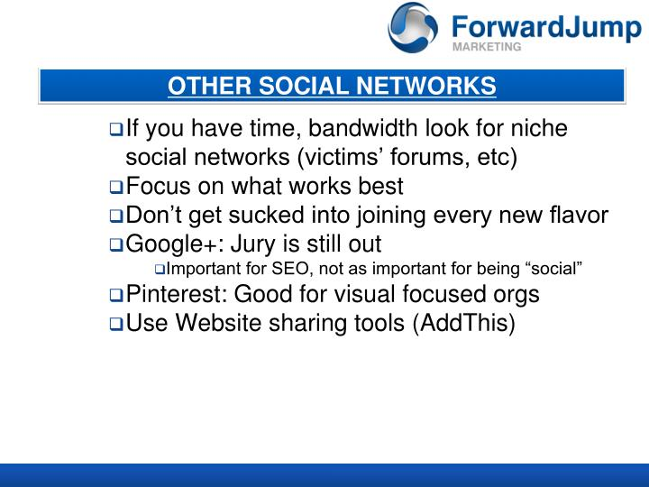 OTHER SOCIAL NETWORKS
