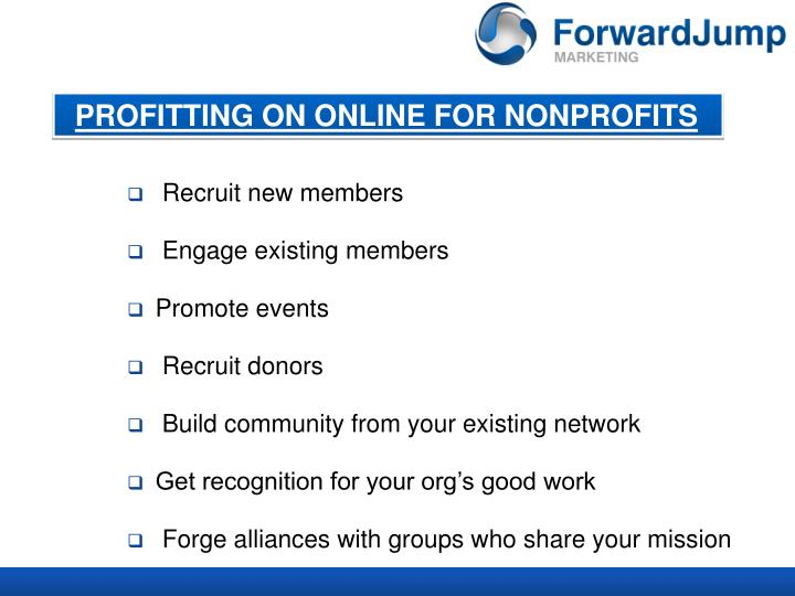 PROFITTING ON ONLINE FOR NONPROFITS