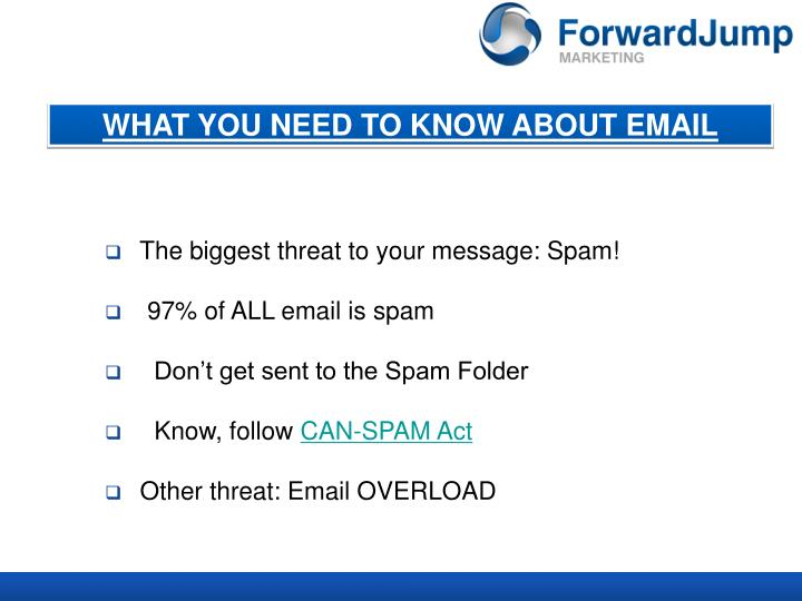WHAT YOU NEED TO KNOW ABOUT EMAIL