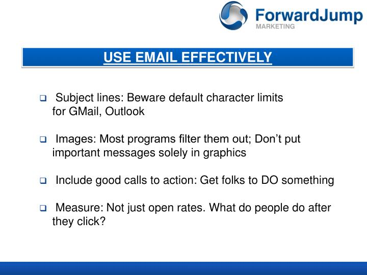 USE EMAIL EFFECTIVELY