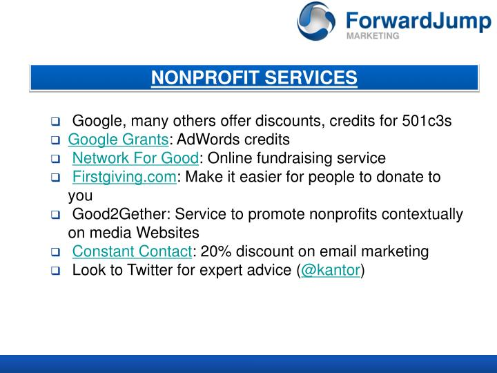 NONPROFIT SERVICES