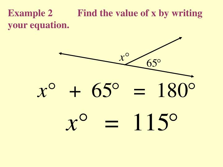 Example 2          Find the value of