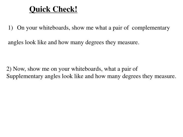 Quick Check!