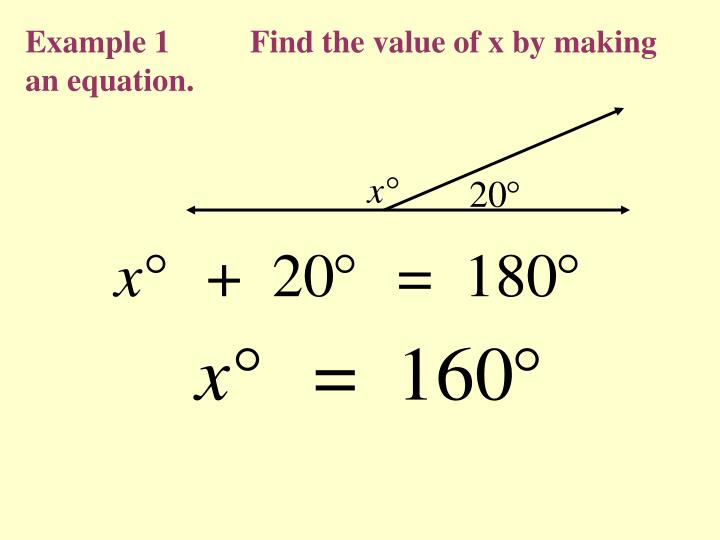 Example 1          Find the value of