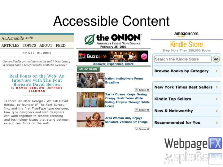 Accessible Content