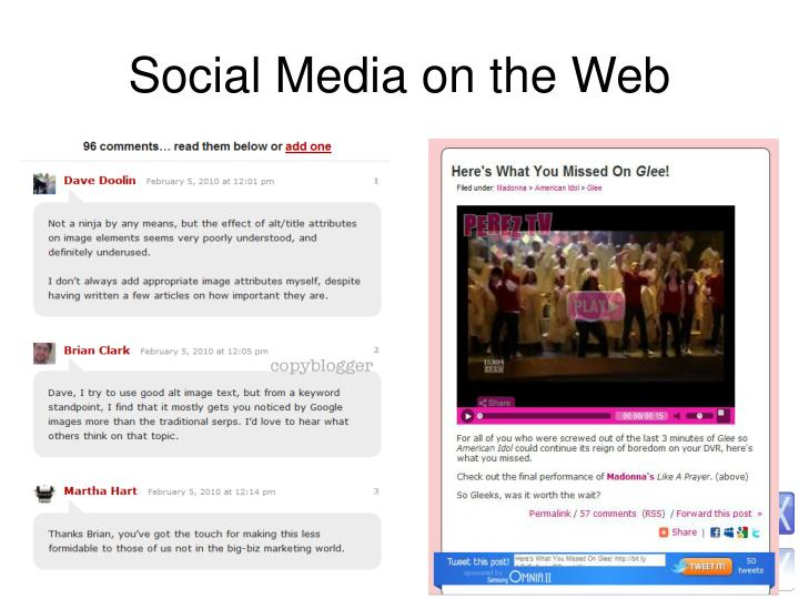 Social Media on the Web