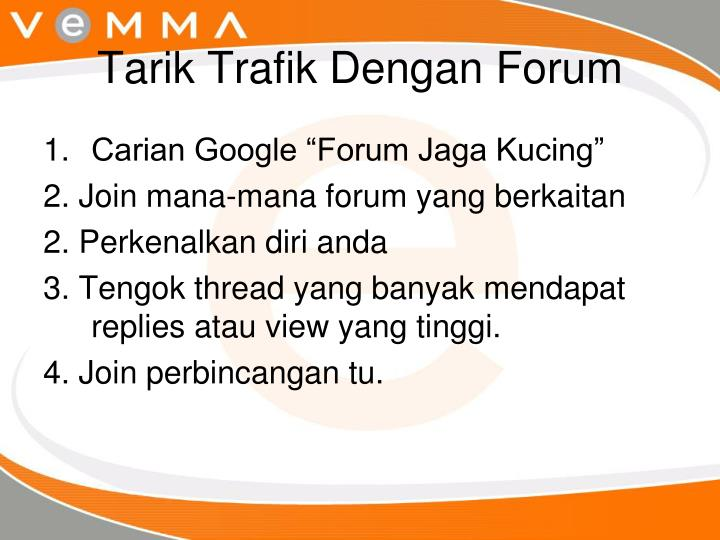 Tarik Trafik Dengan Forum