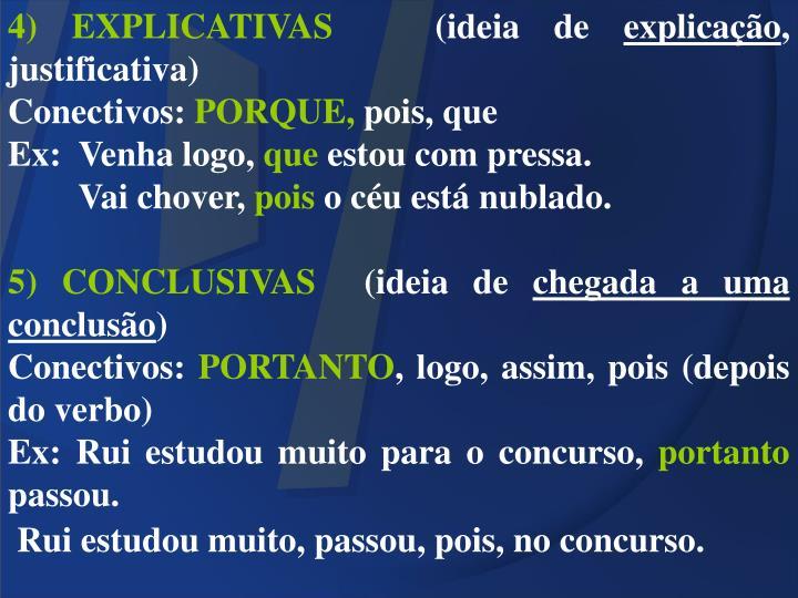 4) EXPLICATIVAS