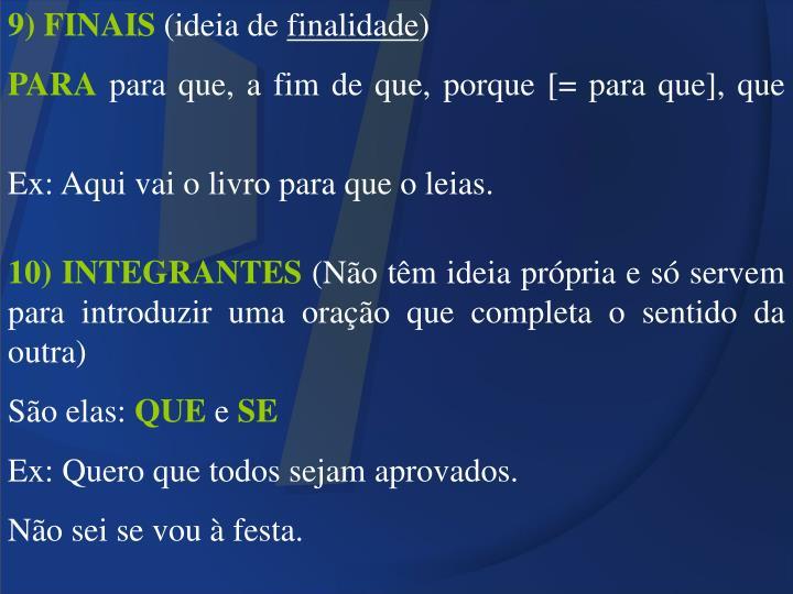 9) FINAIS