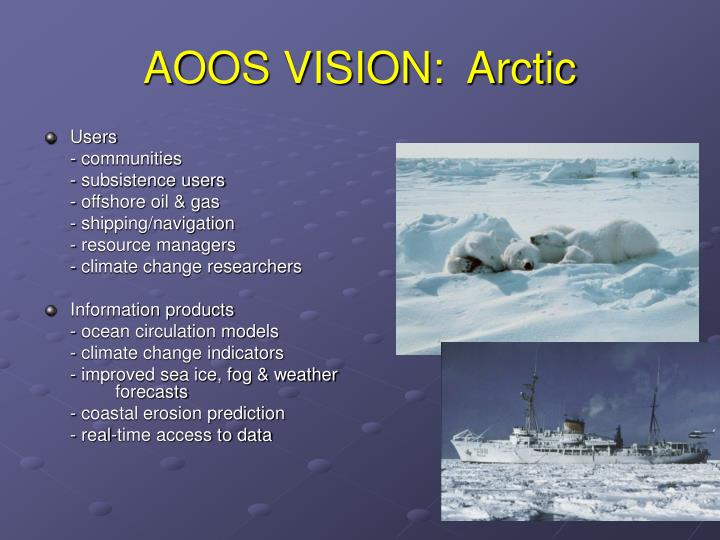 AOOS VISION:  Arctic