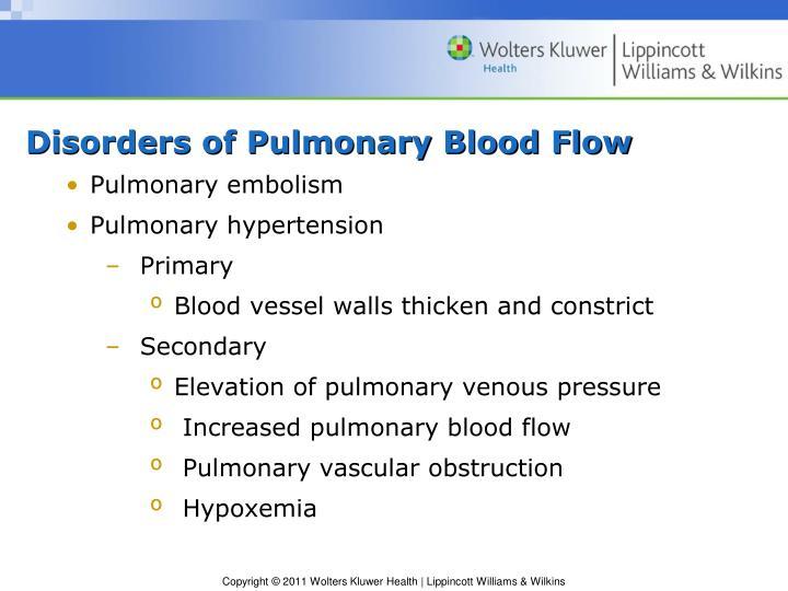 Disorders of Pulmonary Blood Flow