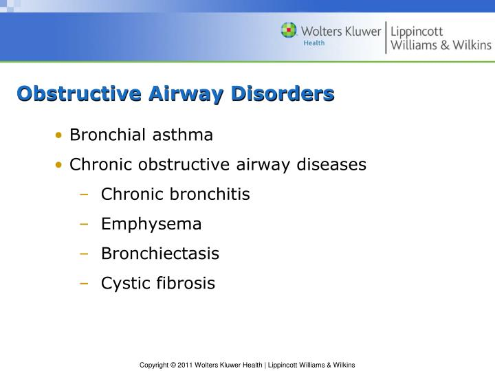 Obstructive Airway Disorders