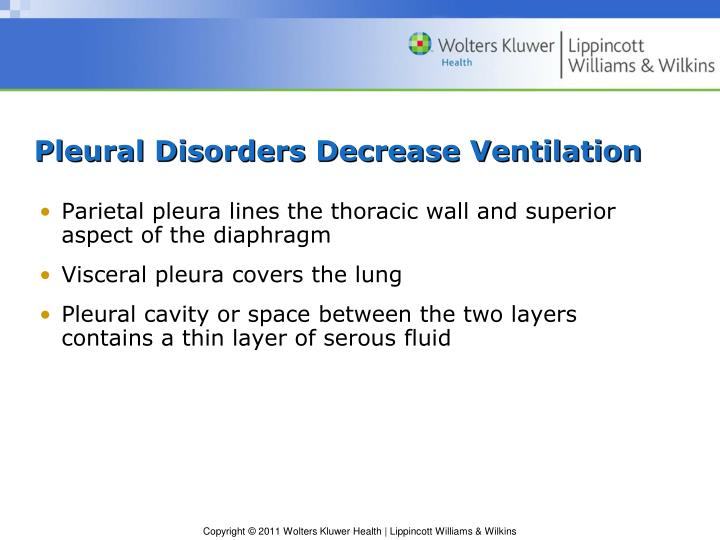Pleural Disorders Decrease Ventilation