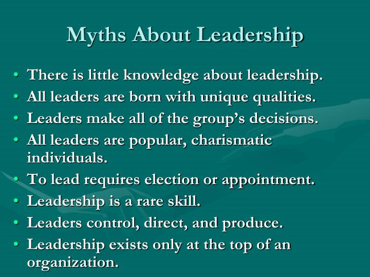Myths About Leadership