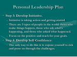personal leadership plan1