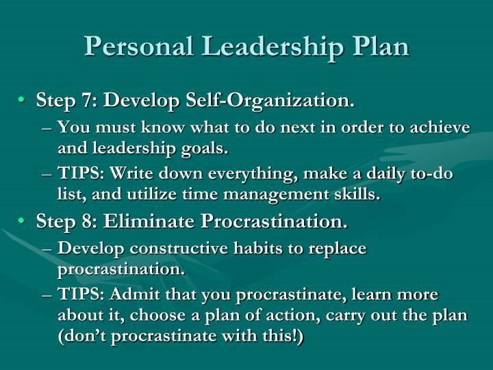 Personal Leadership Plan