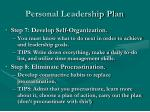 personal leadership plan3