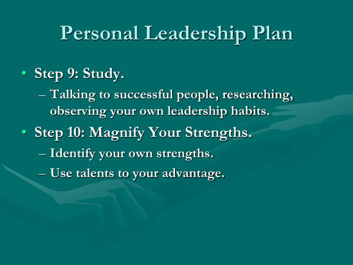 Personal Leadership Plan