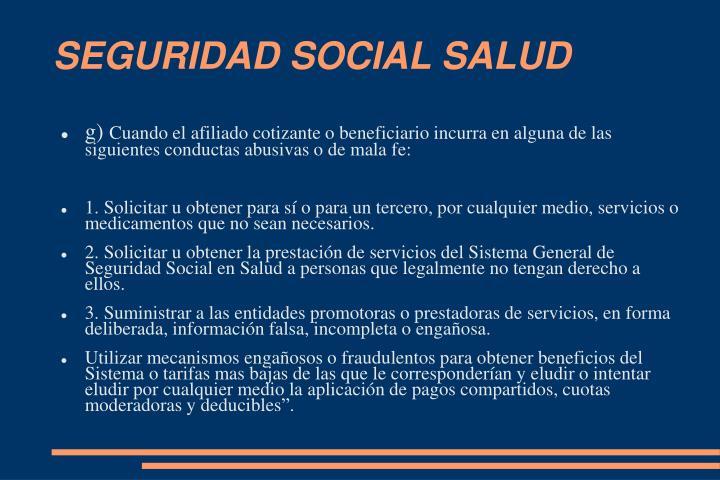 SEGURIDAD SOCIAL SALUD