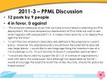 2011 3 ppml discussion