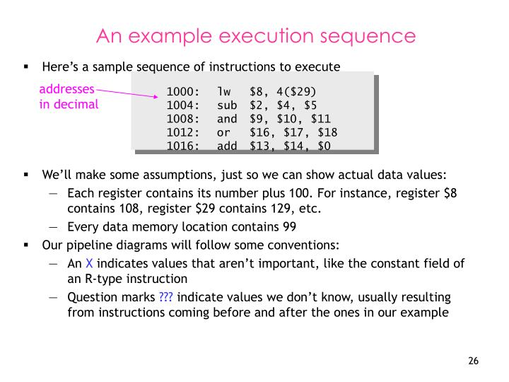Here's a sample sequence of instructions to execute