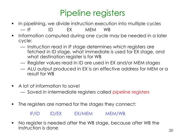 Pipeline registers