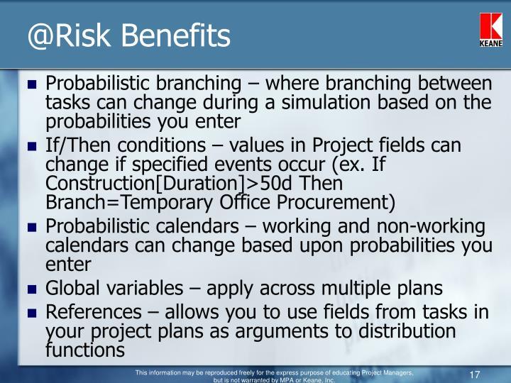@Risk Benefits