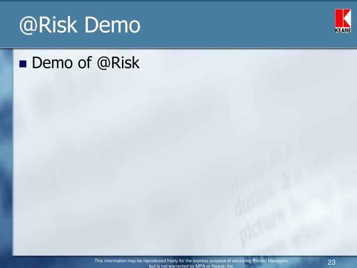 @Risk Demo