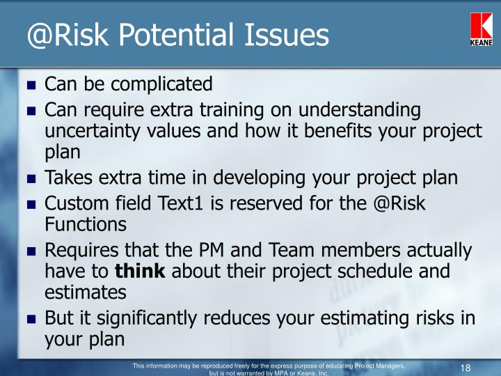 @Risk Potential Issues