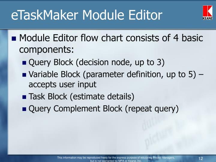 eTaskMaker Module Editor