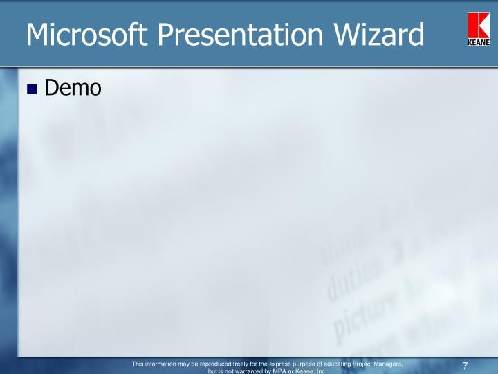 Microsoft Presentation Wizard